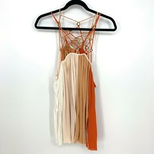 Free People Strappy Crisscross Web Strap Tank Top